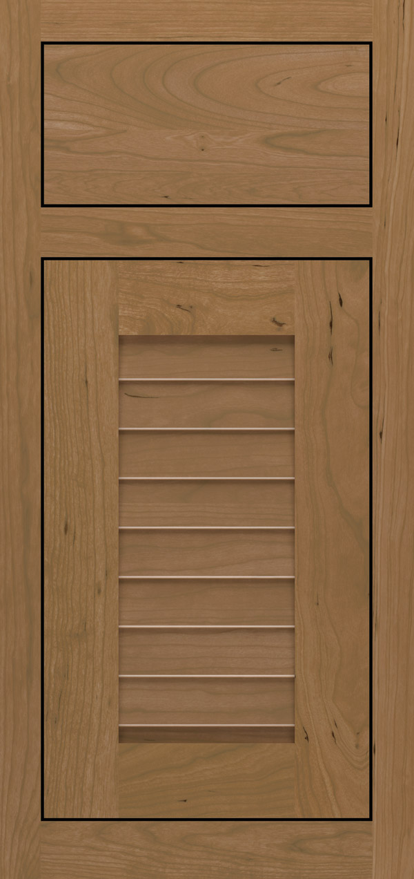 Cancun cherry inset cabinet door in desert