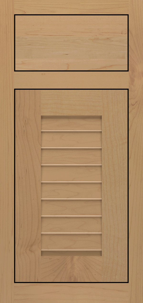 Cancun maple inset cabinet door in desert