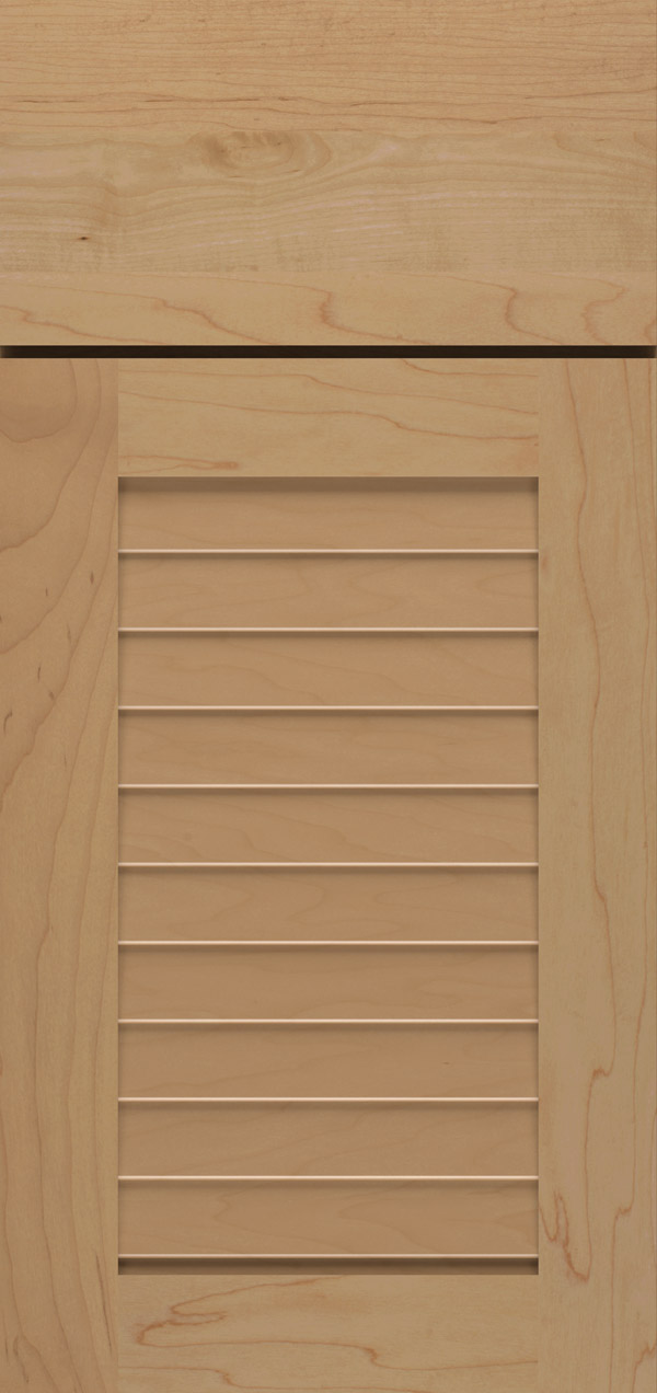 Cancun maple louvered cabinet door in desert