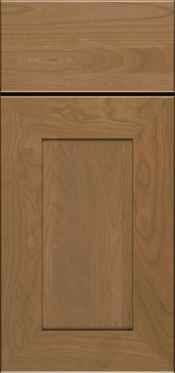 Cayhill cherry reversed raised panel cabinet door in desert