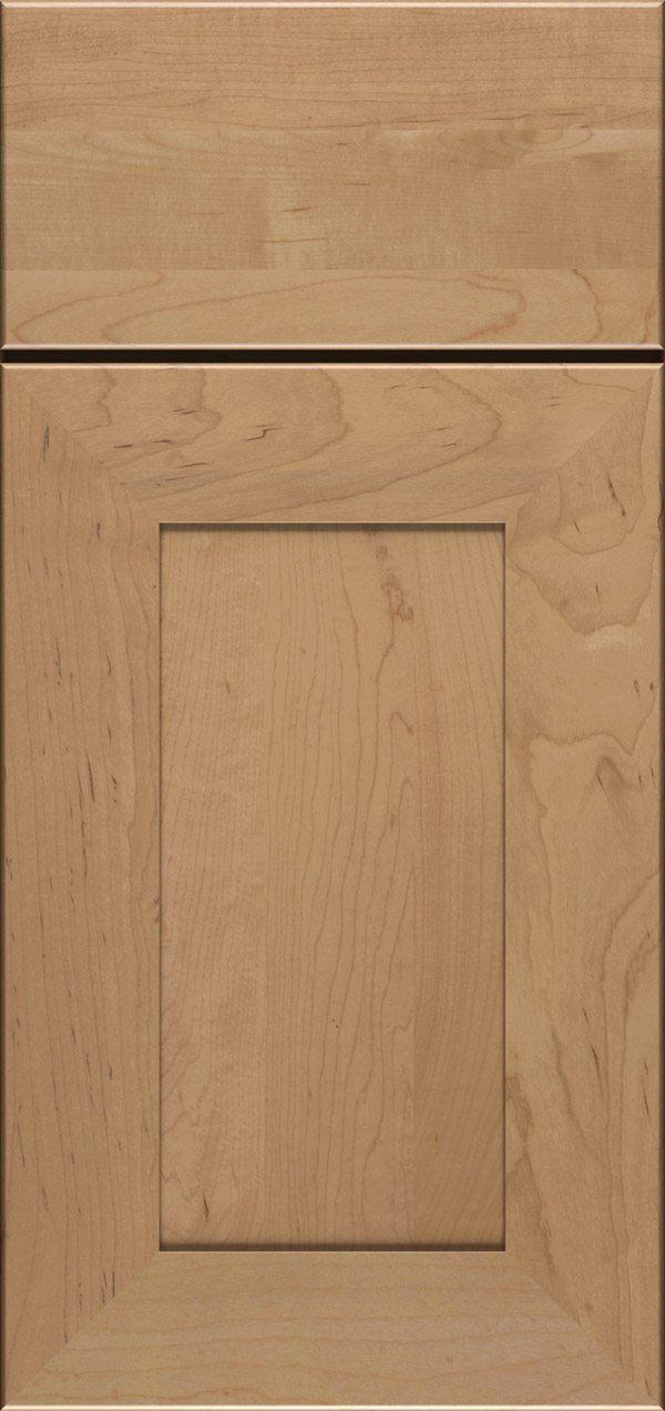 Cayhill maple reversed raised panel cabinet door in desert