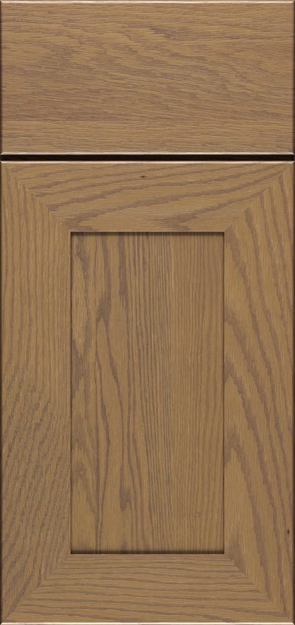 Cayhill oak reversed raised panel cabinet door in desert