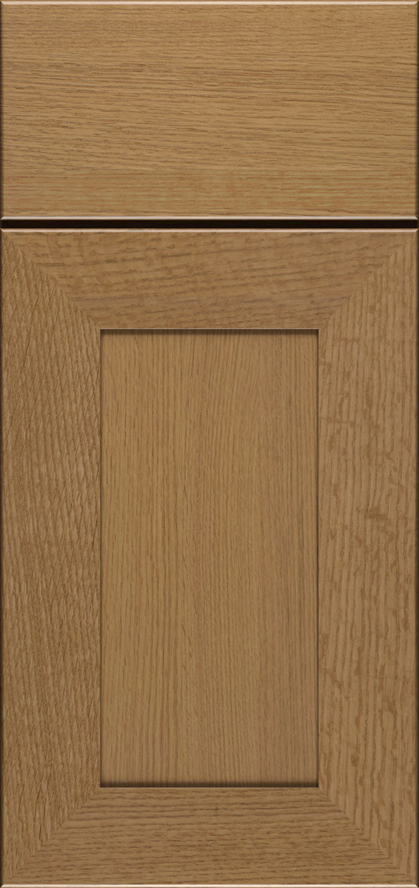 Cayhill quartersawn white oak reversed raised panel cabinet door in desert