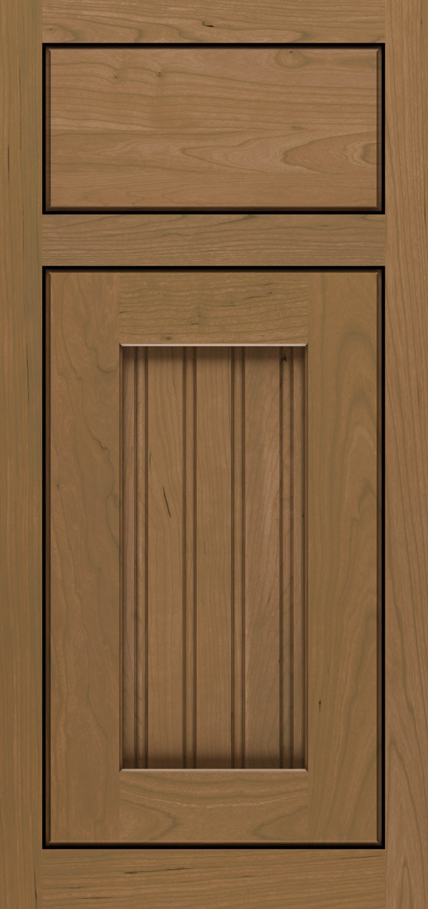 Clayton cherry inset cabinet door in desert