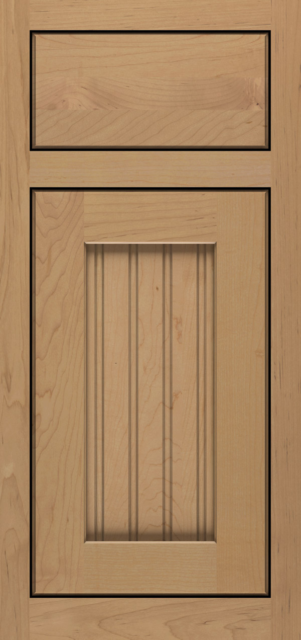 Clayton maple inset cabinet door in desert