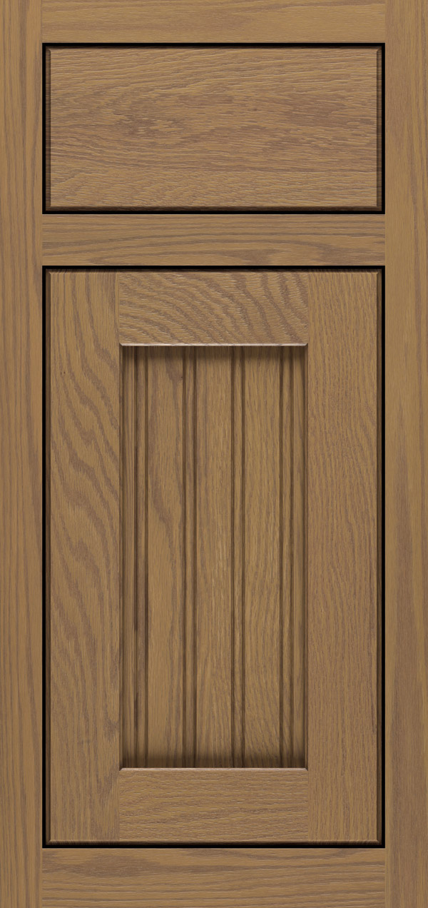 Clayton oak inset cabinet door in desert
