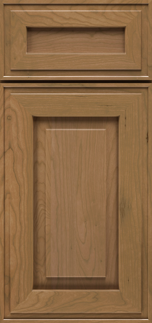Clio 5-piece cherry raised panel cabinet door in desert