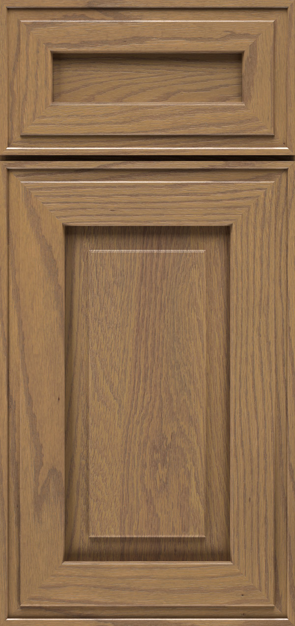 Clio 5-piece oak raised panel cabinet door in desert