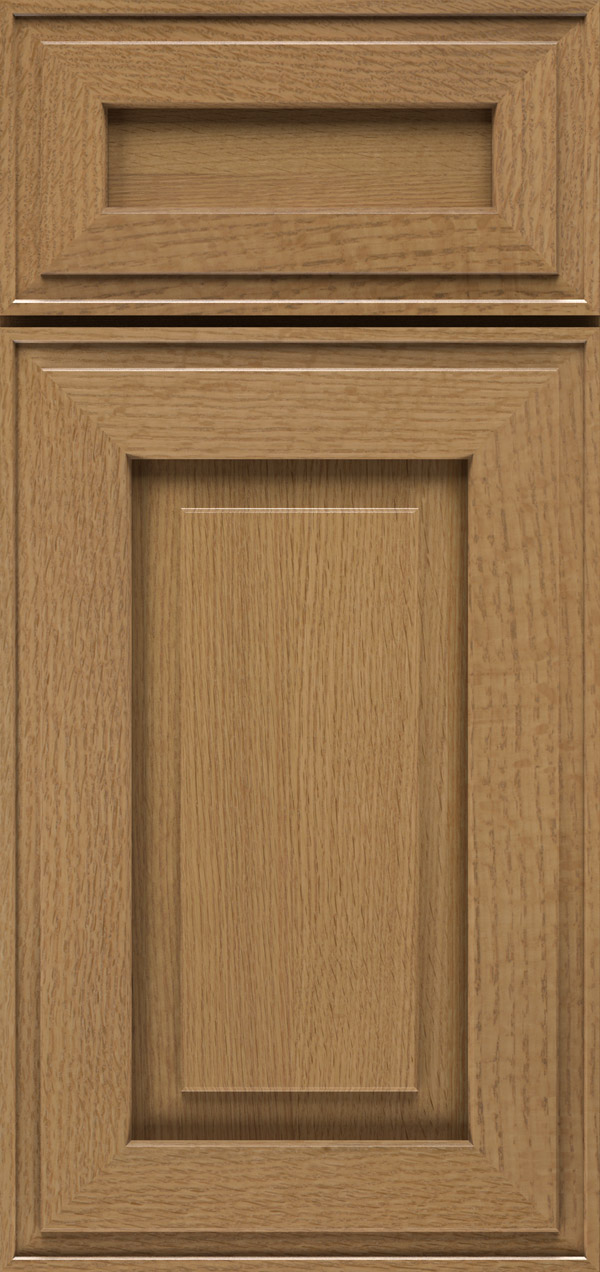 Clio 5-piece quartersawn white oak raised panel cabinet door in desert