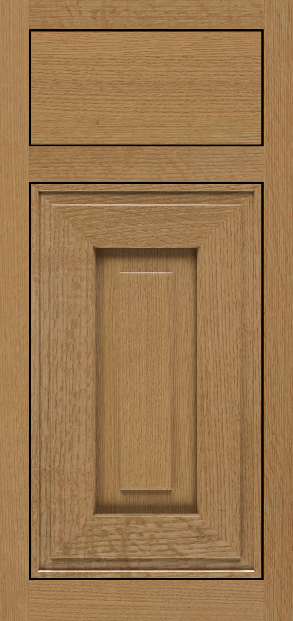 Clio quartersawn white oak inset cabinet door in desert