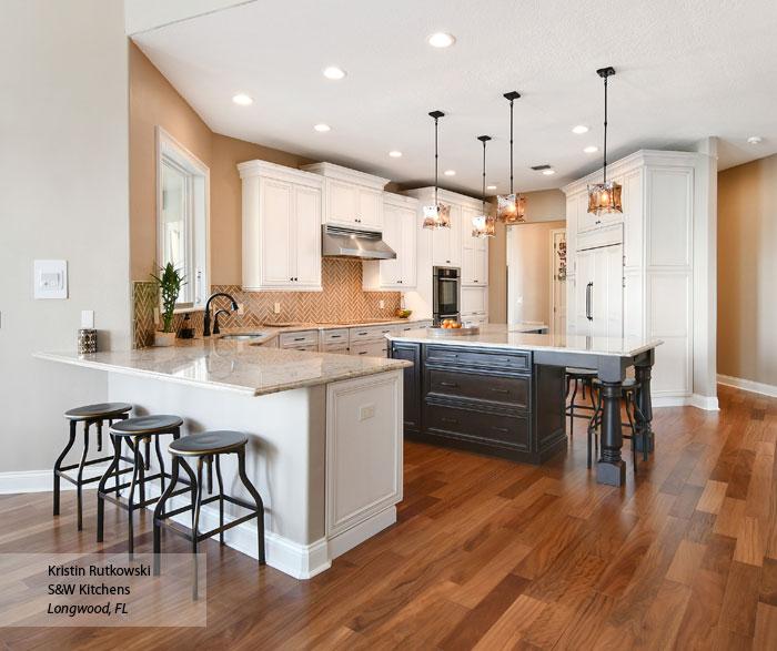 White Glazed Kitchen Cabinets Omega Cabinetry