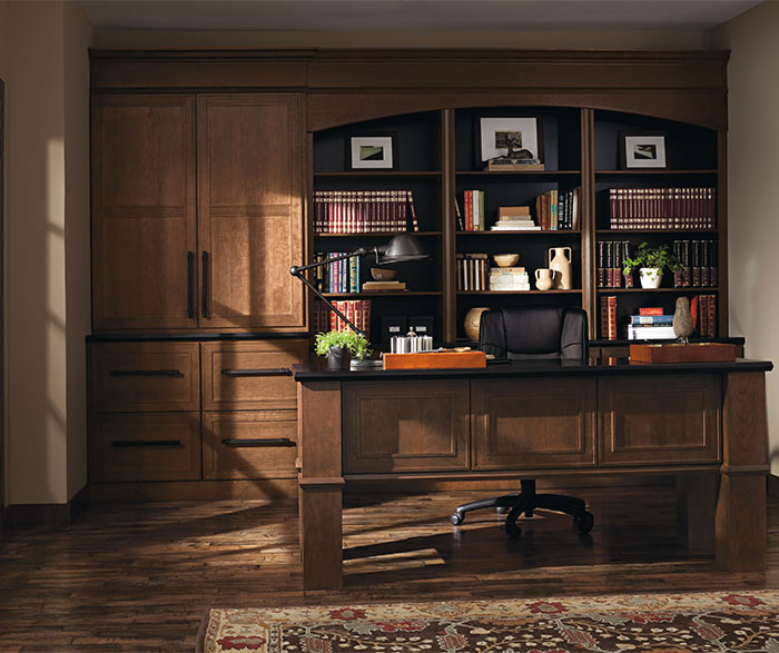 Beckwith Cherry Office Cabinets In Kodiak Finish ...