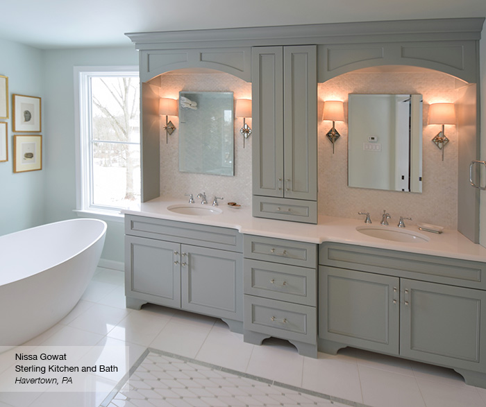 Master bath cabinets omega cabinetry - Pictures of vanities in bathrooms ...