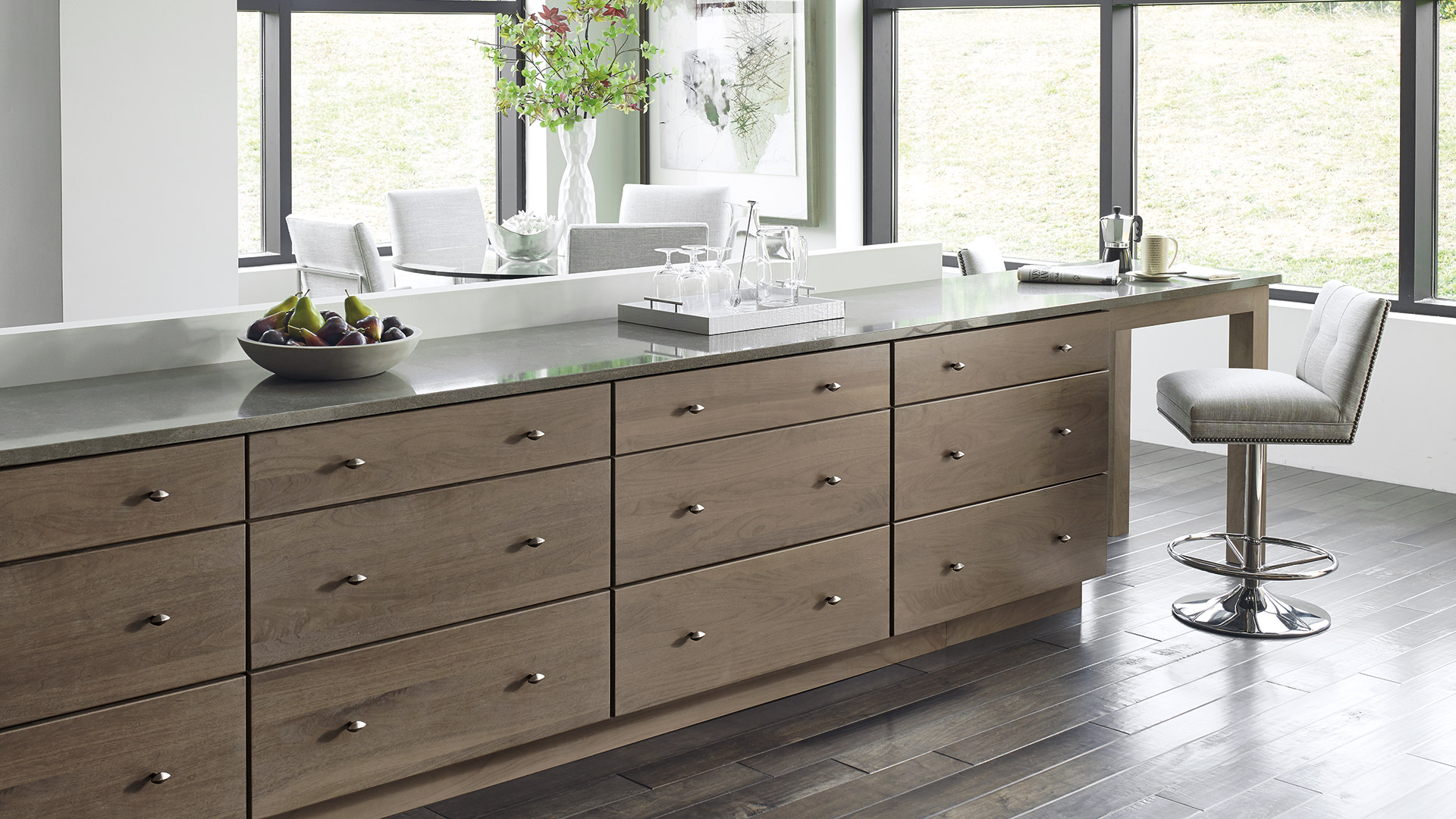 Contemporary Kitchen With Walnut Cabinets Omega