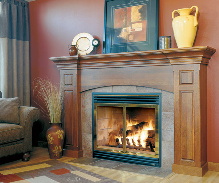 Custom Danville cabinetry for a fireplace surround