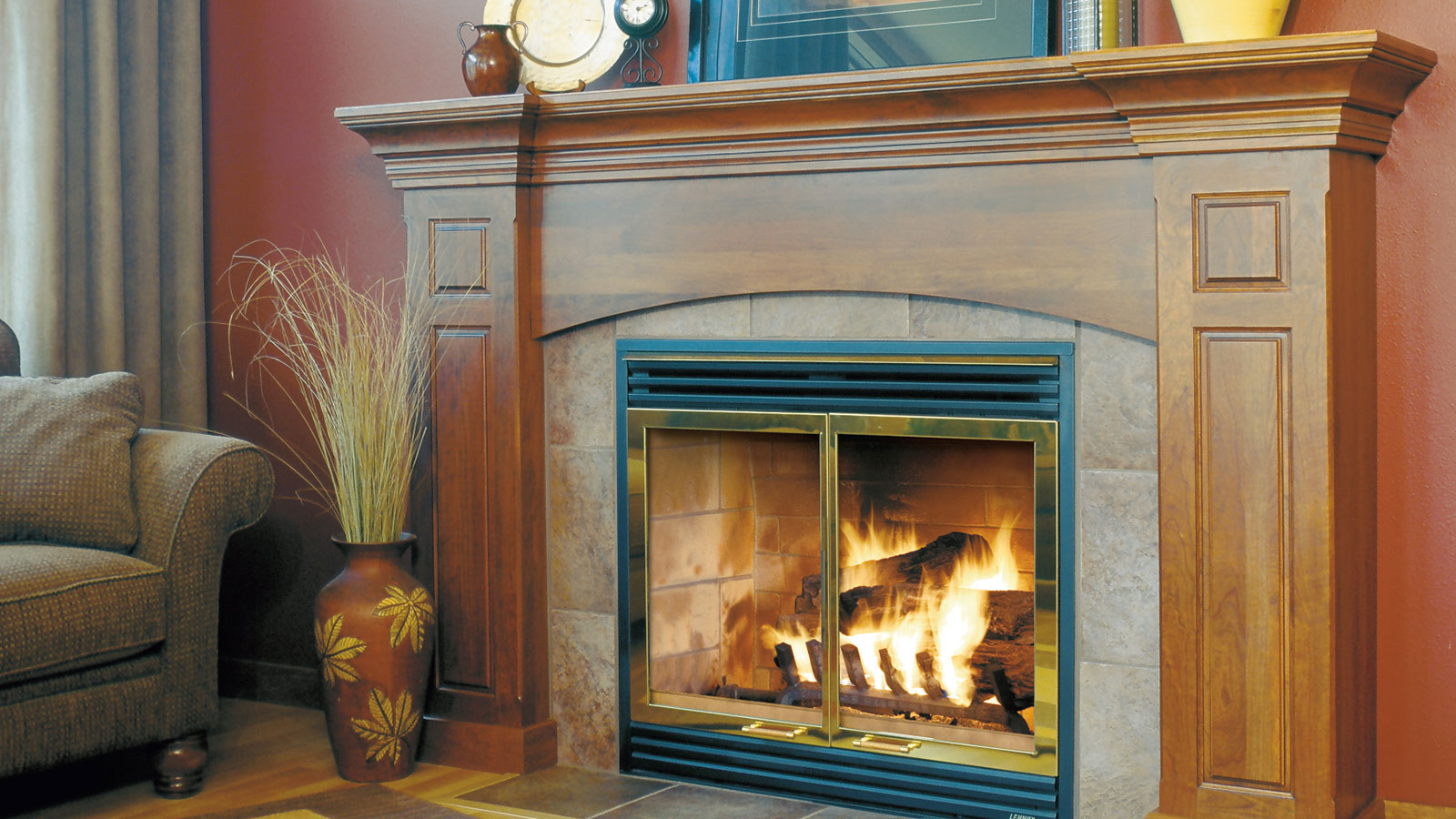 custom cabinetry for a fireplace surround omega