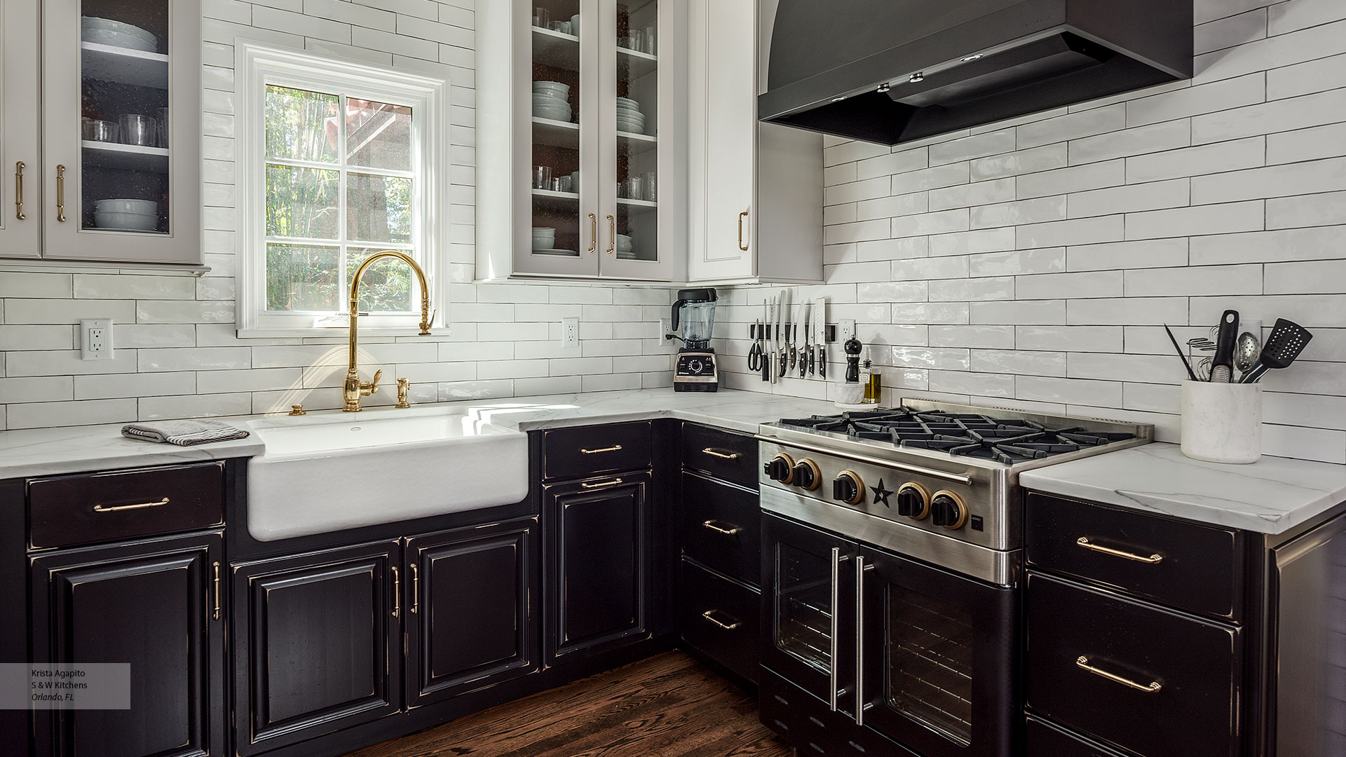 Transitional Black Maple Kitchen Cabinets In Custom Finish