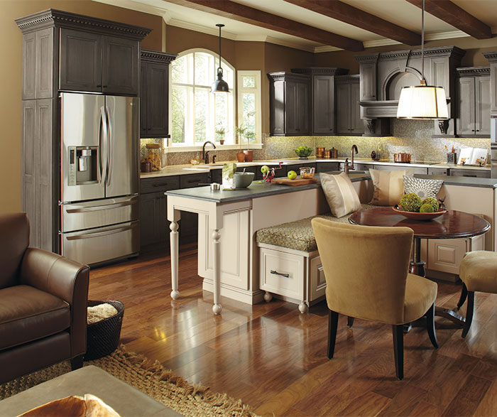 Casual Kitchen with a Large Kitchen Island