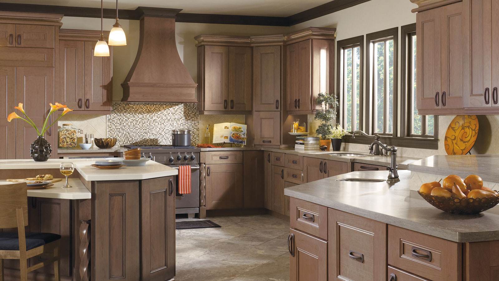 Kitchen With Cherry Cabinets Omega Cabinetry
