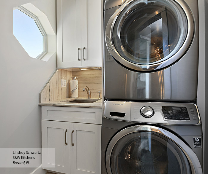Oak Laundry Room Cabinets