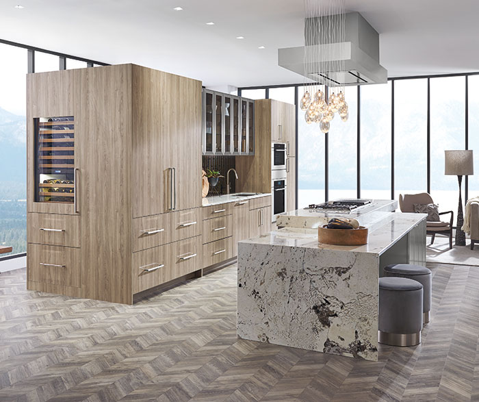 Modern Textured Laminate Contemporary Kitchen