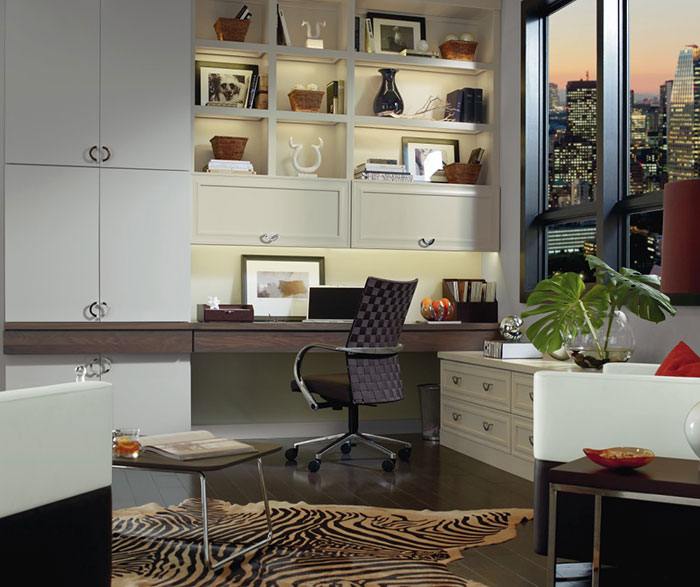 Contemporary Maple and Walnut Custom Office and Storage Cabinets