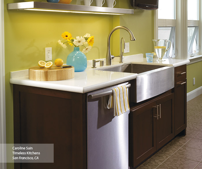 Shaker Style Cabinets in a Contemporary Kitchen