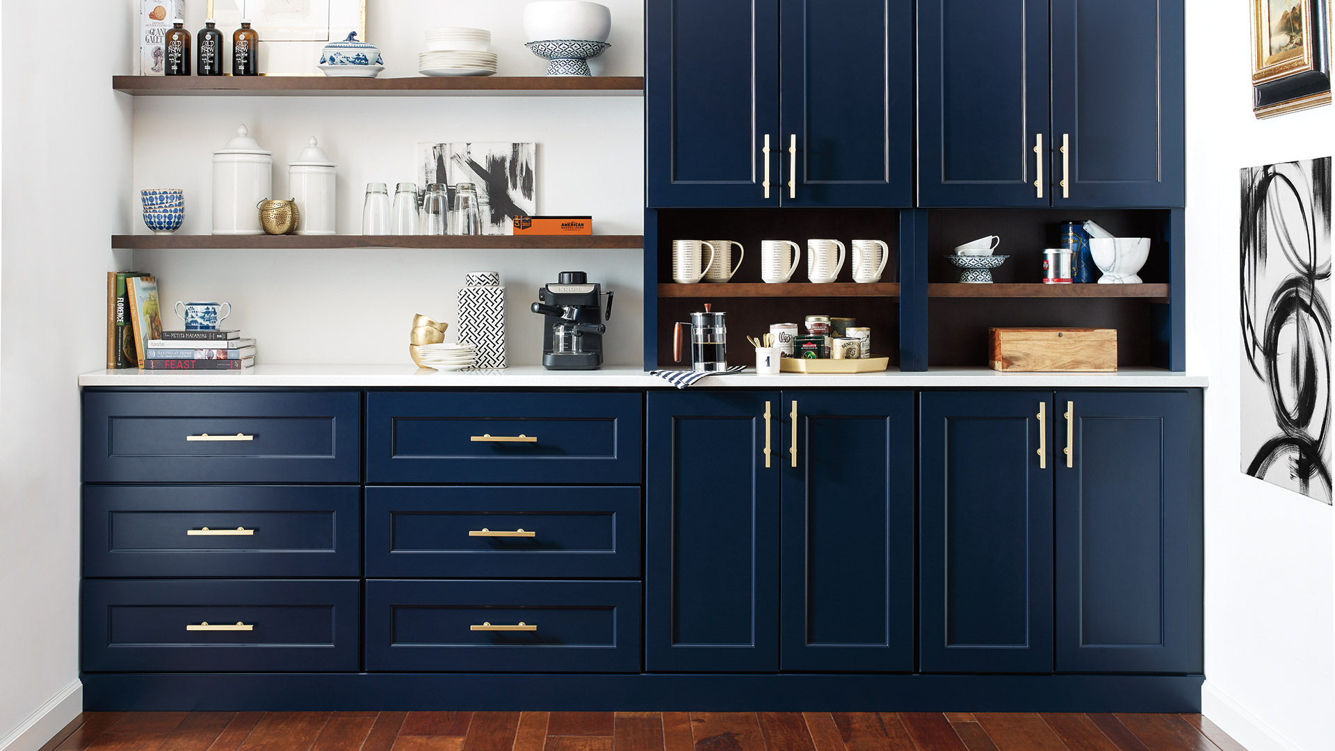Custom Butler S Pantry Inspiration And Plans: Butler's Pantry With Custom Blue Cabinets