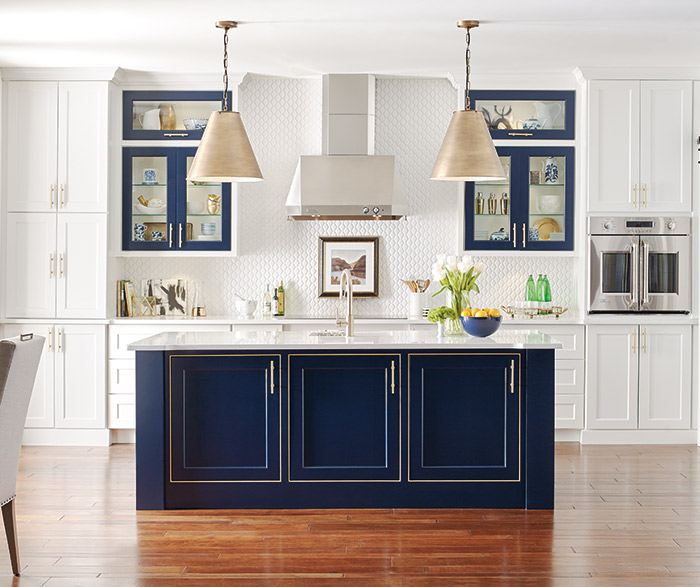 Interior White And Blue Kitchen Cabinets white kitchen with custom blue island omega a island