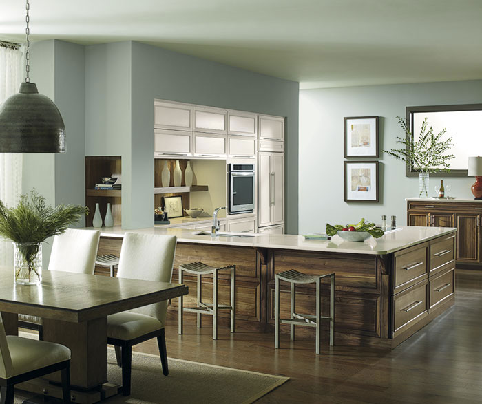 Riff kitchen with painted Maple and Walnut cabinets