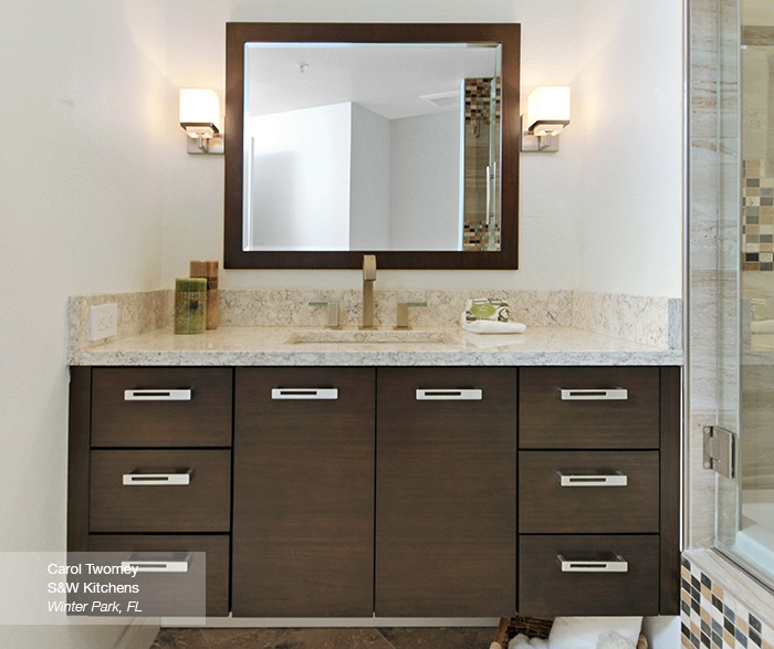 Tarin contemporary bathroon vanity in walnut kodiak