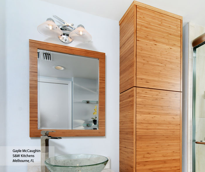 Tarin Natural Bamboo bathroom cabinets