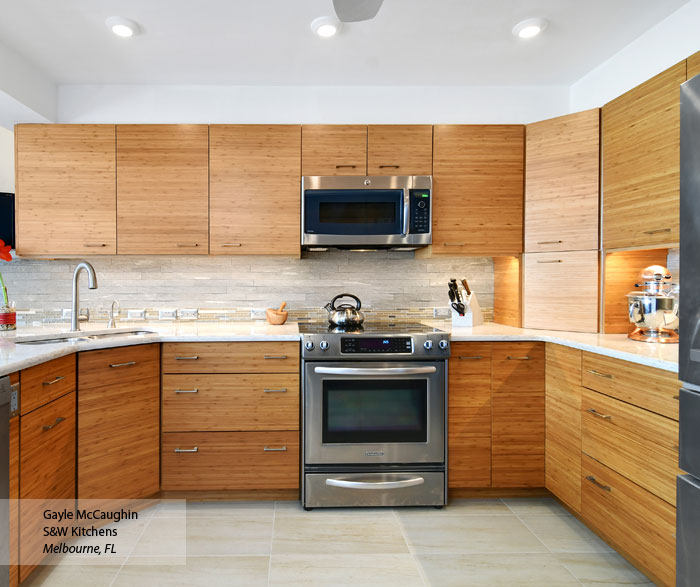 Bamboo kitchen cabinets avie home for Bamboo kitchen cabinets