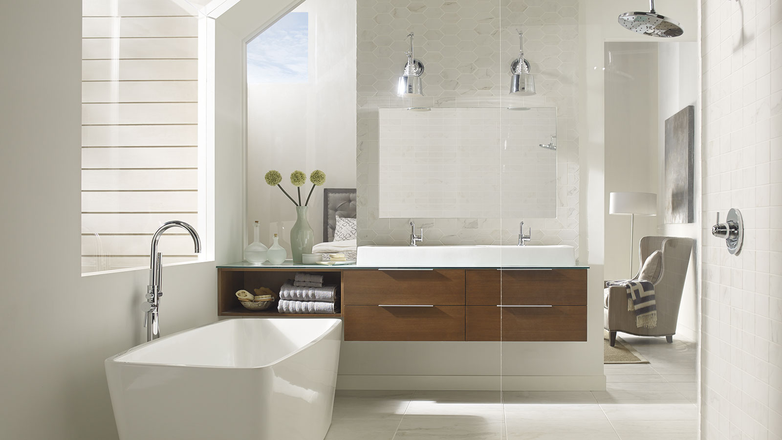 ... Tarin Wall Hung Vanity Cabinet In Cherry Sable Finish ...