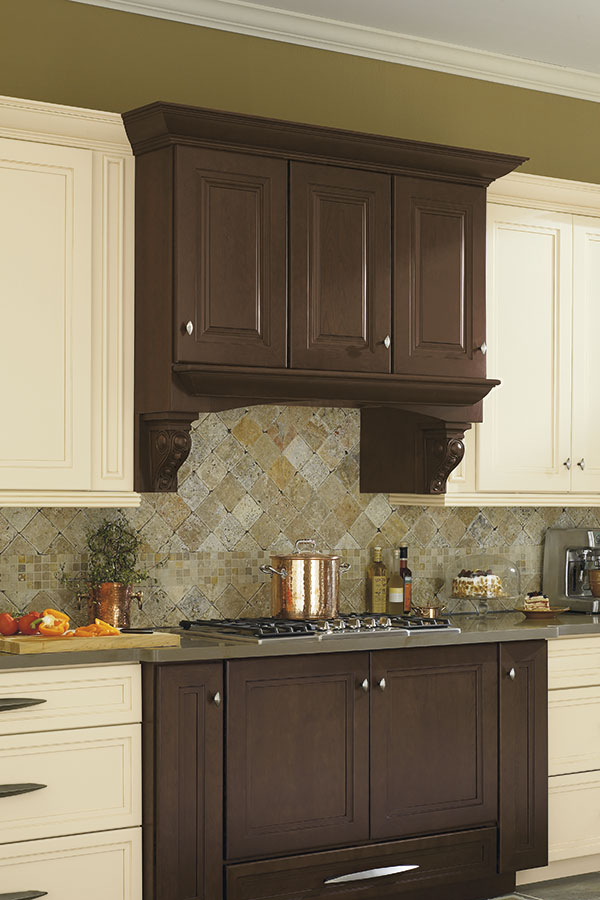 Wood Hood With Infinity Corbel Omega Cabinetry
