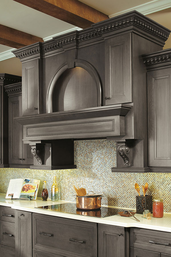 Wood Hood with Infinity Corbel and Moulding