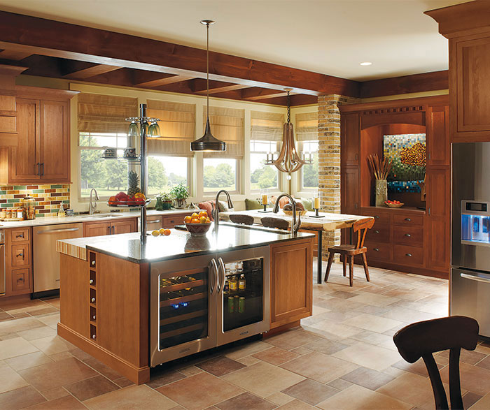 kitchen designs with cherry wood cabinets rustic kitchen with cherry wood cabinets omega 9354