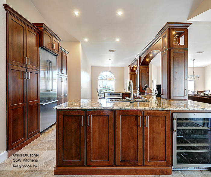 Renner kitchen cabinets in alder ginger