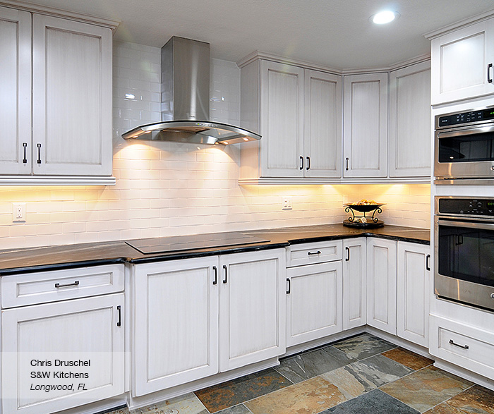 Renner shaker style kitchen cabinets in maple pearl
