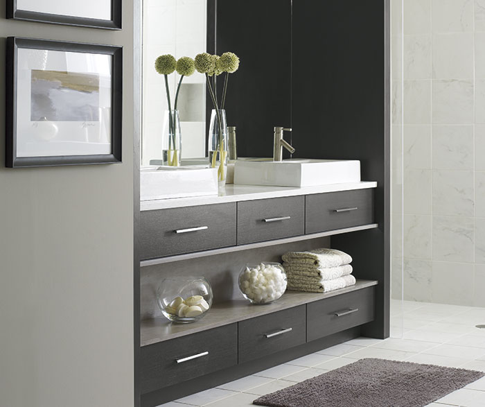 Modern Tarin bathroom vanity in Walnut Smokey Hills finish