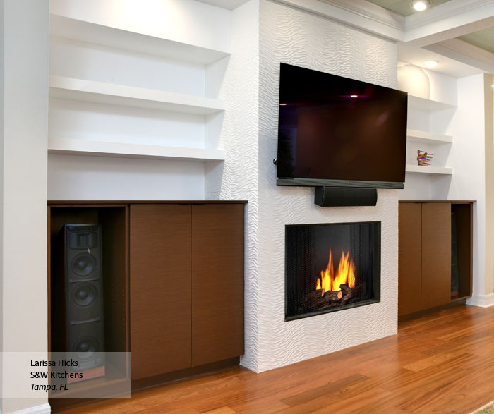 Natural Wenge cabinets in a living space