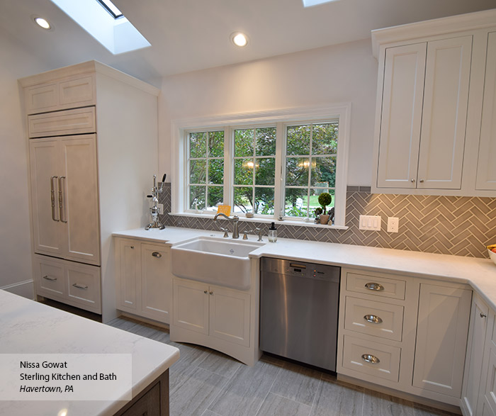 Elemental White inset cabinets